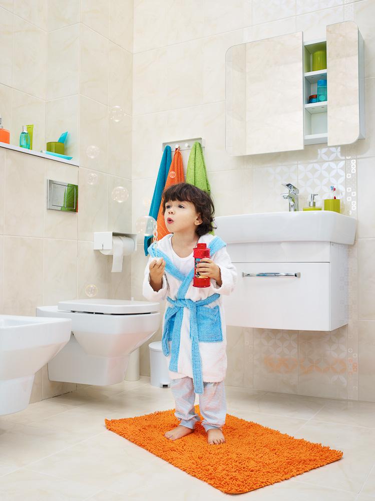 Modna łazienka, bezpieczna łazienka, fot.: Cersanit