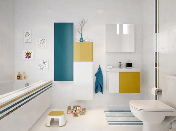 Modna łazienka, funkcjonalna łazienka, fot.: Cersanit