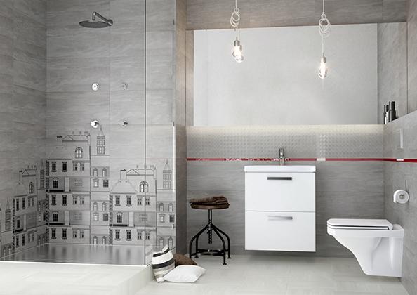 Modna łazienka, industrialna łazienka, fot.: Cersanit