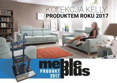 KELLY – kolekcja mebli wypoczynkowych WAJNERT MEBLE Produktem Roku 2017
