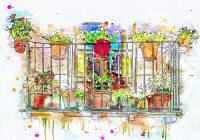 Sposoby dekorowania balkonów